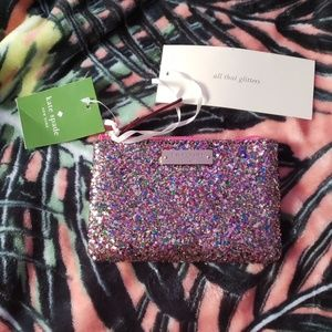 KATE SPADE Glitter Glitterball Coin Purse NEW